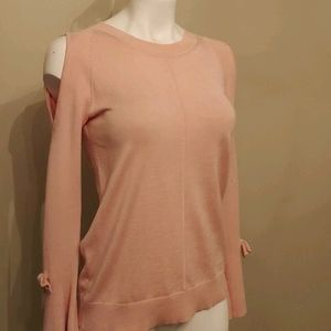 Karl Lagerfield pink cold shoulder top Size XS